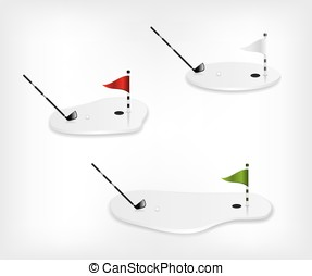 Golf course white illustration