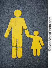Traffic sign for walkers