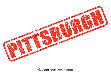 PITTSBURGH red stamp text on white