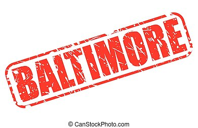 BALTIMORE red stamp text on white