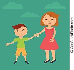Happy family illustration.