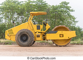 soil vibration roller during - Soil compactor and bulldozer...