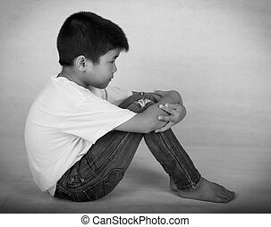alone - Children feel lonely and depressed, his parents...