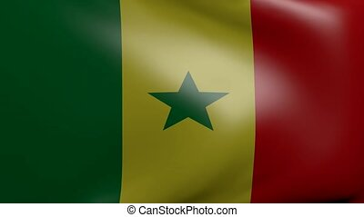 senegal strong wind flag