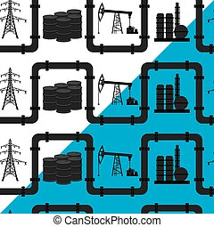 Oil, gas. Seamless pattern.
