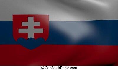 slovakia strong wind flag