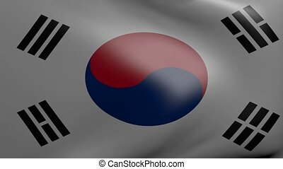 south korea strong wind flag