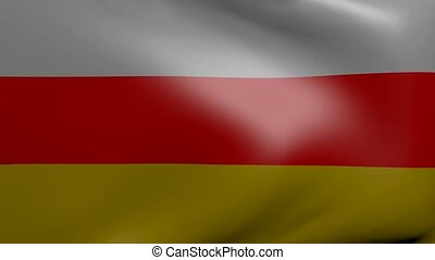 south ossetia strong wind flag