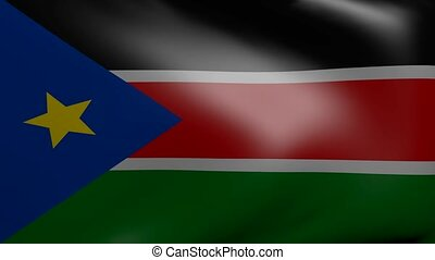 south sudan strong wind flag
