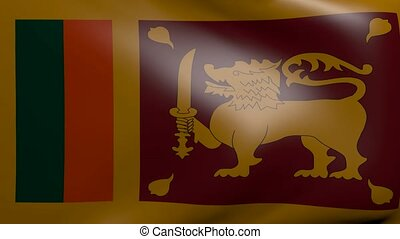 sri lanka strong wind flag