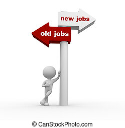 Old jobs or new jobs