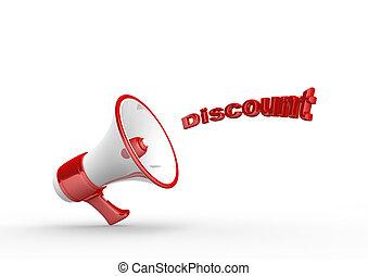 Megaphone - 3d render megaphone and word discount