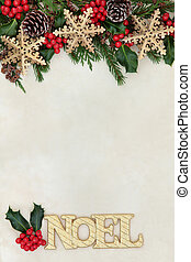 Noel Abstract Border