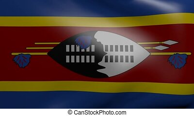 swaziland strong wind flag
