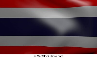 thailand strong wind flag