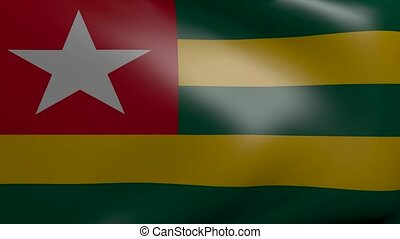 togo strong wind flag