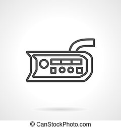 Flat line vector icon for button panel