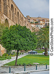 Kavala Greece - Kavala, Greece aqueduct and castle