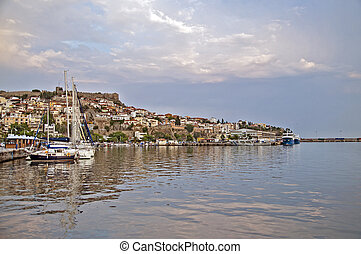Kavala Greece - Port in Kavala Greece