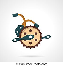 Bike crank flat vector icon - Flat color design vector icon...
