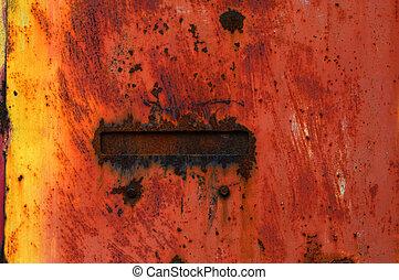 zardzewiały, Metal, i, malować, tło,