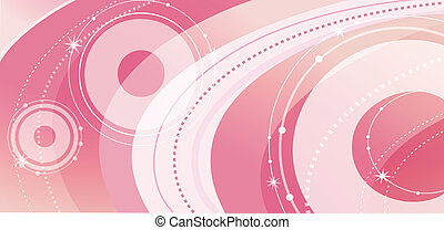 abstract curve and circle - beautiful curves and circles...