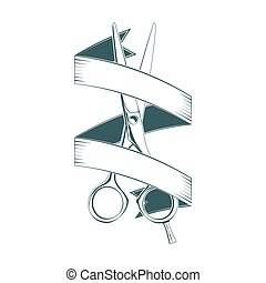 Barbershop emblem isolated on white background, excellent...