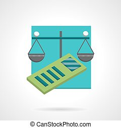 Accountancy abstract flat vector icon - Conceptual flat...