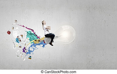 Master of creativity - Conceptual image of young...