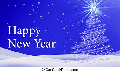 new year tree animation - happy new year merry christmas...