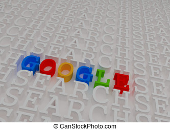 Editorial colorful 3d google text inside search text pattern