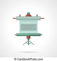 Presentation screen flat vector icon - Flat color style...