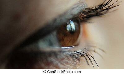woman eye close up
