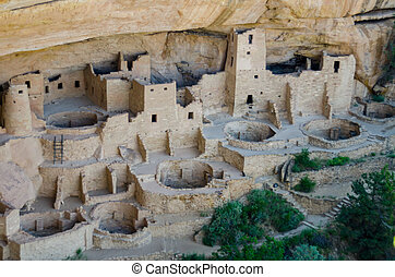 Mesa Verda Wide - The Cliff Palace dwelling in Mesa Verde...