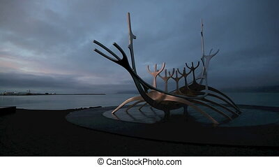 The Sun Voyager in Reykjavik - The landmark Sun Voyager in...