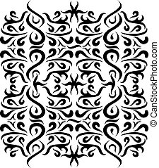 Ornaments Wall Silhouette - illustration of great Ornaments...