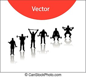 Vector silhouettes for sports