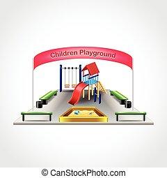 Children playground isolated vector - Children playground...