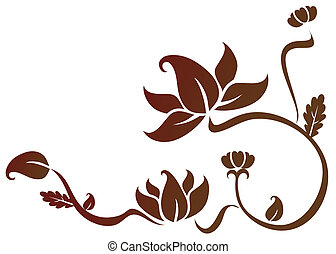 lotus pattern - illustration drawing of a beautiful lotus...