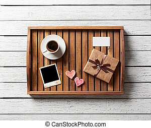 Photo frame and hearts gift box - Photo frame and hearts and...