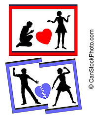 Marriage and Divorce - The wedding bliss is ending up with...