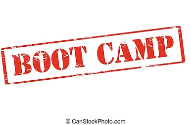 Boot camp - Rubber stamp with text boot camp inside, vector...