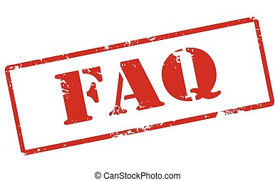 Faq - Rubber stamp with word faq inside, vector illustration
