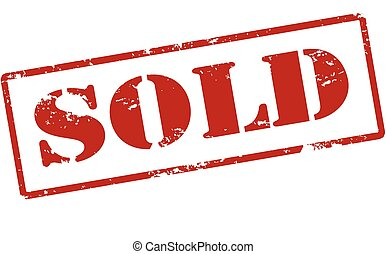 Sold - Rubber stamp with word sold inside, vector...