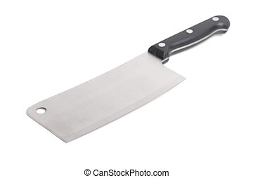 Cleaver isolated on white background