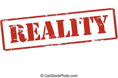 Reality - Rubber stamp with word reality inside, vector...