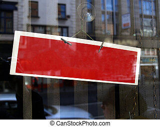 Show window sign - Display window sign with blank copy space...