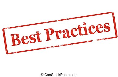 Best practice - Rubber stamp with text best practice inside,...