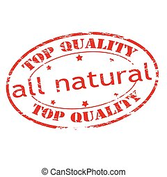 All natural - Rubber stamp with text all natural inside,...