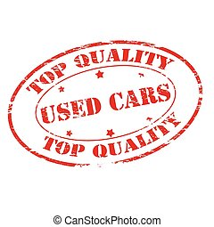 Used cars - Rubber stamp with text used cars inside, vector...